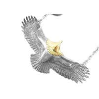 タディアンドキング 頭金 大イーグル K18 メタル付きホイール イーグルフック チェーン ネックレス 画像