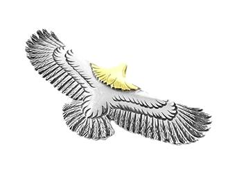 WINGROCK 頭金シルバーイーグルトップ (L) 画像
