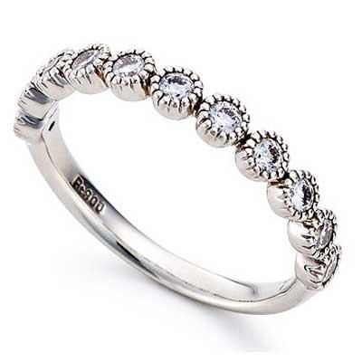 アガット ダイヤモンド ミル打ち エンゲージ プラチナ 900 指輪 画像