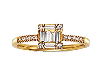 ベルシオラ K18YG ダイヤモンドリング 画像