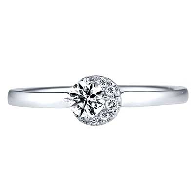 スタージュエリー ムーンセッティング ダイヤモンド リング 画像