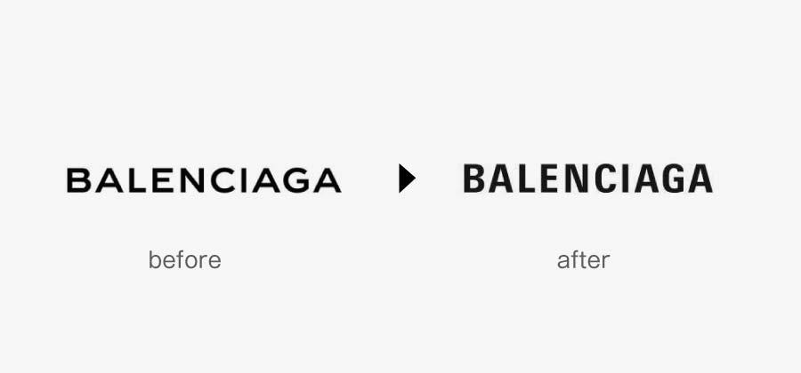 バレンシアガ 2018年春夏コレクションよりブランドロゴ変更画像