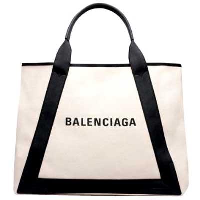 バレンシアガ ネイビーカバ トートバッグ 画像