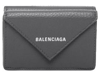 バレンシアガ ペーパー ミニ ウォレット 三つ折り財布 画像