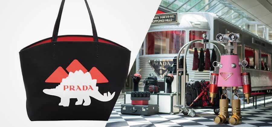 プラダの新作バッグやアクセサリーを大丸心斎橋の限定ストアで発売画像