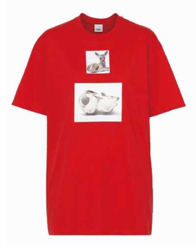 ディアプリント コットンTシャツ 画像