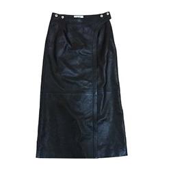 セリーヌ 19AW 2H076978E ラムレザー ロング スナップ レディース スカート 画像