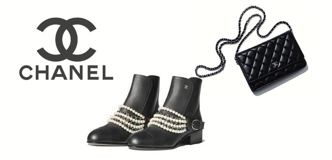 シャネル パール&チェーン CCロゴ ショートブーツ 画像