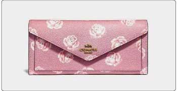 コーチ 財布 花柄/ピンク 画像