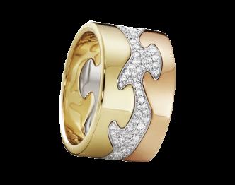 FUSION フュージョン 3連リング K18×ダイヤ画像