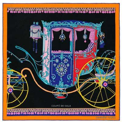 エルメス スカーフ カレ45 クーペ・ドゥ・ガラ 画像