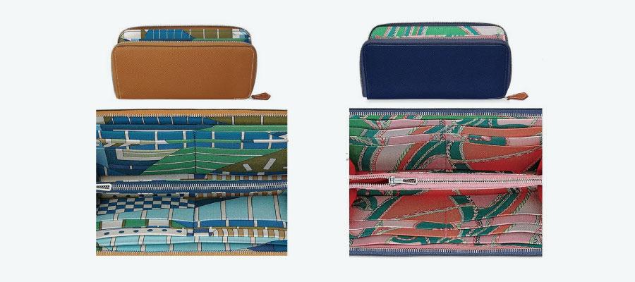 エルメスアザップシルクインロング財布画像