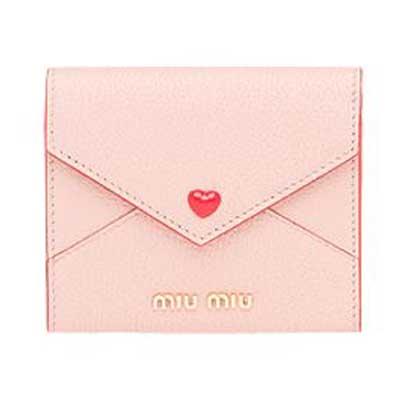 ミュウミュウ マドラスレザー レター型 三つ折り財布 画像