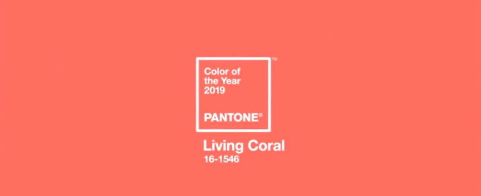 2019年の色リビングコーラル画像