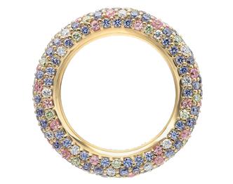 ポンテヴェキオ エテルノ カラーサファイア ダイヤモンドリング 画像